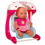 Set leagan papusa bebelus ce vorbeste,saluta,sforaie,plange si face pipi
