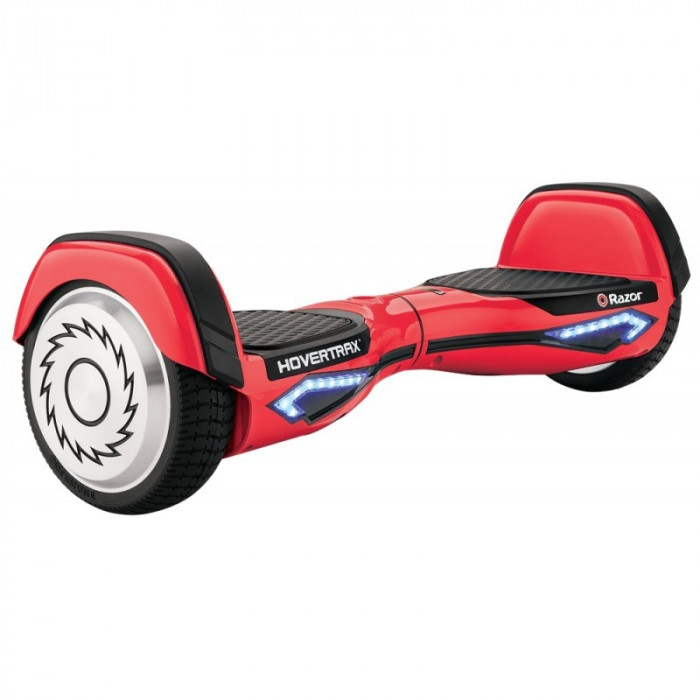 Hoverboard Razor Hovertrax 2.0, motor 2 x 350 W, 36 V, baterie detasabila, 13 km/h, Rosu