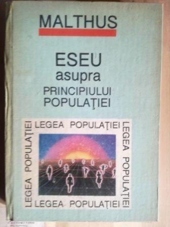 Eseu asupra principiului populatiei- Malthus