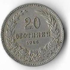 Moneda 20 stotinki 1906 - Bulgaria