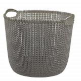 Cos de rufe, 30 L, 40x39x33 cm, gri inchis, CURVER GartenVIP DiyLine