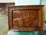 Cahla soba,fabrica de sobe teracota Bistrita, 1920.Placa UNICAT.Reducere!