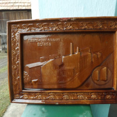 Cahla soba,fabrica de sobe teracota Bistrita, 1920.Placa UNICAT.