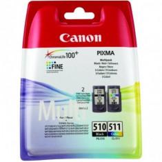 Cartus cerneala canon pg-510 + cl-511 multipack (black color) pentru