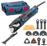 Multi-cutter BOSCH GOP 55-36, 550 W, prindere rapida accesorii, turatie constanta, turatie reglabila, valiza transport, accesorii