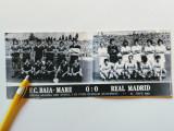 Foto fotbal-echipele FC BAIA-MARE si REAL MADRID (15.09.1982)