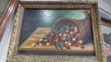 Tablou pictura cornul abundentei cu cirese 6, Natura statica, Tempera, Realism