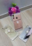 Husa silicon Diamond  cu inel Huawei P Smart Z, Alt model telefon Huawei, Argintiu, Auriu, Roz