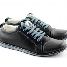 Pantofi sport barbati din piele naturala (cu siret)