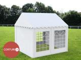 3X5 M CORT EVENIMENTE PROFESIONAL ECONOMY, PVC 500g/m² ALB