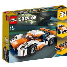 Set de constructie LEGO Creator Masina de curse Sunset