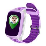 Ceas GPS Copii iUni Kid18, Telefon incorporat, Alarma SOS, 1.44 Inch, Pink