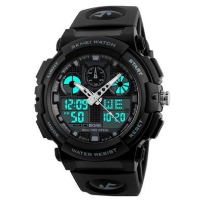 Ceas Barbatesc SKMEI CS880, curea silicon, digital watch, functie cronometru, alarma foto