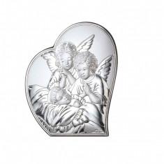 Iconita Argint Ingerul Pazitor 16x19.5cm Cod Produs 2757