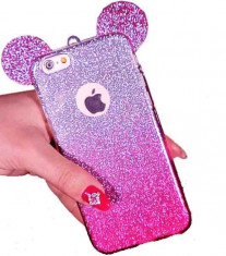 Husa iPhone 7 Plus glitter urechi mini mouse foto