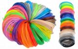 Set 30 rezerve filament multicolor pentru creioane 3D, lungime 5m