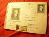 Plic FDC - 40 Ani R.Austriaca Pres. C.Redin 1958 , circulat