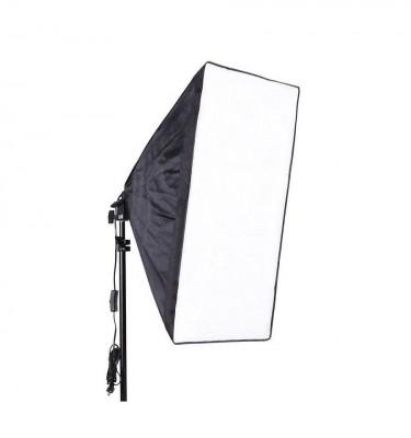 Kit lumina continua foto-video softbox 40x60cm fasung E27 incorporat + bec + stativ foto