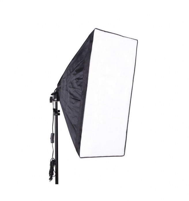 Kit lumina continua foto-video softbox 40x60cm fasung E27 incorporat + bec + stativ
