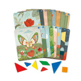 Set creativ Tangram Learning Resources, 16 carduri, 4-8 ani, Multicolor