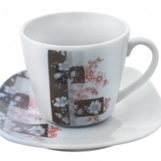 Serviciu cafea din portelan 12 piese, MN012741 Portelan