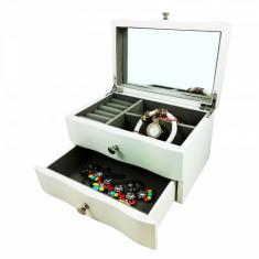 Cumpara ieftin Caset? pentru bijuterii, lemn alb