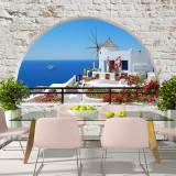 Fototapet vlies - Vara in Santorini - 400 x 280 cm, Artgeist