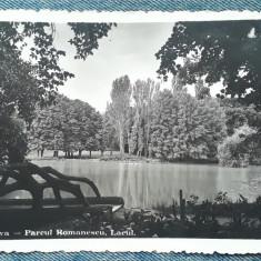 65 - Craiova Parcul Romanescu / Lacul / carte postala cenzurata / cenzura