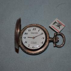 CEAS BUZUNAR - GIGANDET - De Dama - Pandantiv - Mecanic - 17 Jewels - Vintage !