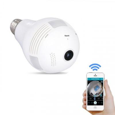 Camera Video de Supraveghere tip Bec Wirelees cu IP si Control din Telefon sau Internet foto