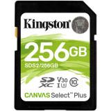"""CARD SD KINGSTON 256 GB SDXC clasa 10 standard UHS-I U3 """"SDS2/256GB"""""""