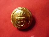 Nasture pt Uniforma Militara Marina Belgiana ,bronz aurit ,d=2cm