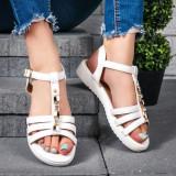 Sandale dama albe Galivia