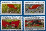 Trinidad-Tobago-''FAUNA pasari de apa''-serie 4 val -MNH, Stampilat
