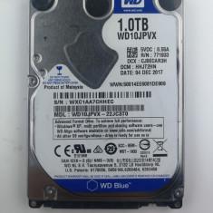 Hard Disk HDD 1Tb 1000 GB Blue WD10JPVX 5400rpm 2,5 8M SATA 3 Pentru Laptop, Peste 1 TB, 5400, Western Digital