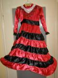 Costum carnaval serbare rochie dans flamenco pentru copii de 4-5-6 ani, Din imagine