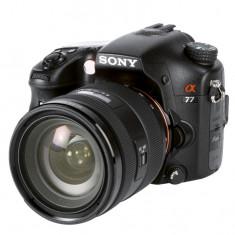 Sony A77 +grip + obiectiv Sony 28-75 f2.8 + 5 obiective + acumulatori