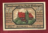 Bancnota Germania  -  REICHSBANKNOTE   - 75 Pfennig 1921 - SUPERBA !!!