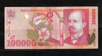 ROMANIA - BANCNOTA 100000 100 000 LEI, CIRCULATA foto