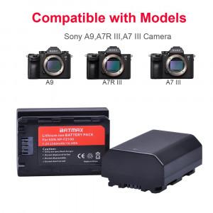 Set 2 acumulatori NP-FZ100 + incarcator dublu camere foto Sony Alpha A7 III A9