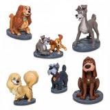 Set 6 figurine Doamna si Vagabondul