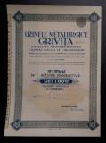Actiune 1943 Uzinele metalurgice Grivita - actiuni - titlu