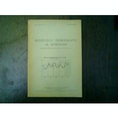 Buletinul demografic al Romaniei miscarea populatiei iulie-august 1947 anul XVI nr. 7-8