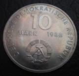 Germania (Republica Democrata ) : 10 mark ( marci ) 1986 _ Ernst Talmann, Europa, Cupru-Nichel