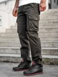 Pantaloni kaki cargo cu curea Bolf CT8902