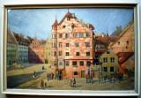 T.044 TABLOU ACUARELA NÜRNBERG THERESIENPLATZ SEMNAT J.A. LUCKMEYER 1915, Peisaje, Altul