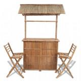Cumpara ieftin Set mobilier bistro, 3 piese, lemn de bambus