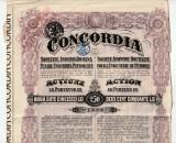 Actiuni Concordia 250 lei 1924 + 3 cupoane ptr. dividende anuale_serie 1302002