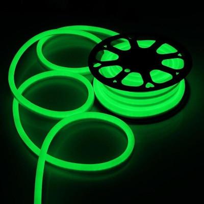 Furtun luminos Neon flexibil verde, profil 1.8x2.5 cm, IP66 foto