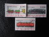Serie timbre locomotive trenuri cai ferate Austria stampilate